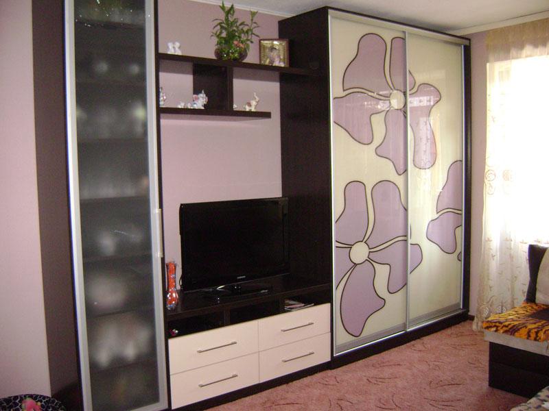 Шкафы купе с телевизором в спальню