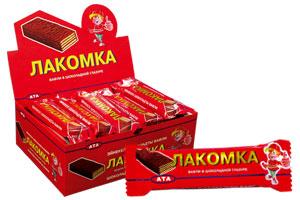 Купить Вафли в шоколадной глазури Лакомка