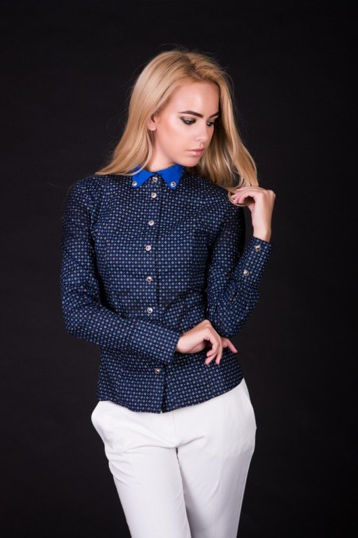 Рубашка женская с воротником купить в Бишкеке 36daa35c2ac79