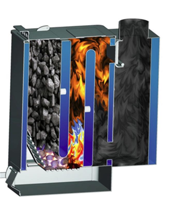 Купить Котел КВДГ для использования бурого угля с учетом условий работы в горной местности