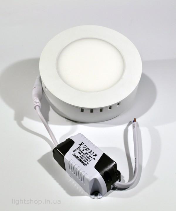 Купить Светодиодная панель 6 ватт (круглая наружно-монтируемая)