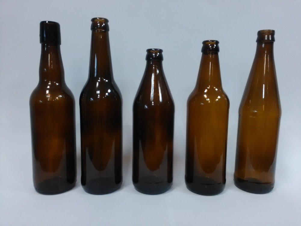 Купить Стеклянная бутылка пивная коричневая объемом 0,5 л