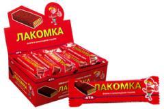 Вафли в шоколадной глазури Лакомка