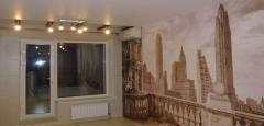 Фотопечать на натяжных потолках и стенах