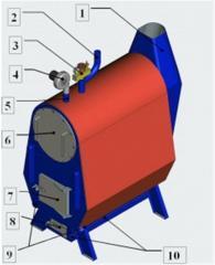Котёл водогрейный для нагрева воды в системах отопления