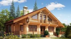 Деревянные дома из клееного бруса .