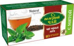 С МЯТОЙ (черный) Полезный чай 25ф/п * 2г
