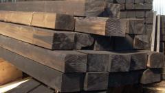 Шпала деревянная пропитанная