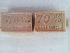 Мыло хозяйственное 70% производство Узбекистан 250 г