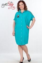 Платье-рубашка женское артикул 1337-1 размеры 44-54