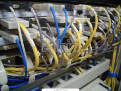 Установка оптоволоконного оборудования локальных вычислительных сетей