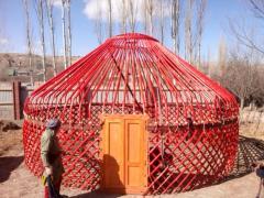 Экскурсионные Шоп- туры за Кыргызскими национальными юртами из войлока, на оз. Иссык-Куль!
